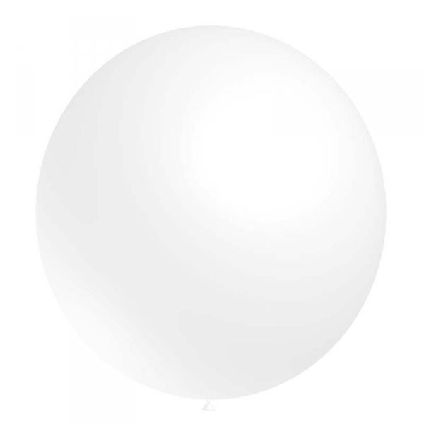 ballon latex 180 cm de diamètre blanc BALOONIA Ballons 140 et 180 cm