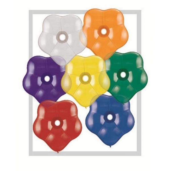 Ballons qualatex géo blossom 16 inch 40 cm couleurs pierres précieuses