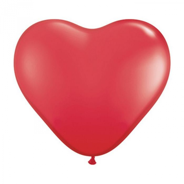 50 ballons latex coeur 38 cm rouge