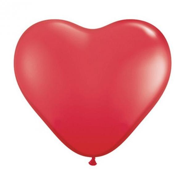 50 ballons latex coeur 38 cm rouge320 QUALATEX COEURS 40 CM