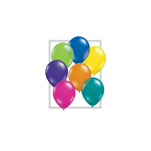 100 ballons multicouleur CRISTAL TRANSPARENT 28 cm diamètre QUALATEX 28 Cm Transparent Qualatex 28 Cm Ø Ballons