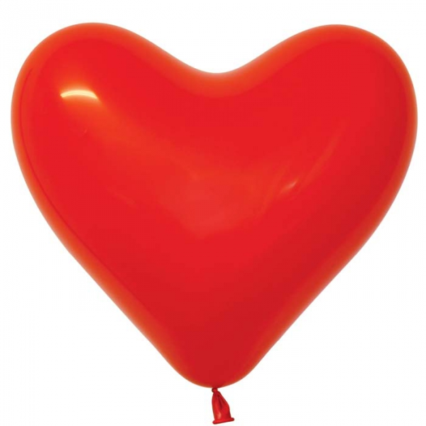 coeur rouge opaque sempertex 30 cm en poche de 100 SEMPERTEX Sempertex Coeurs