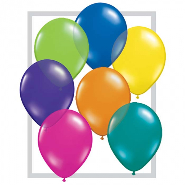 TRANSPARENT qualatex 40 cm poche de 50 QUALATEX Ballons 40 cm diamètres pour décoration air ou hélium