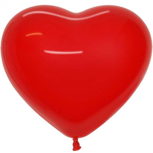 Coeur sempertex 42 cm rouge en poche de 100