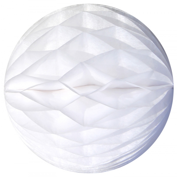 3 Boules papier alvéolé 8 cm BLANC
