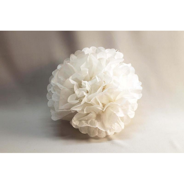 3 fleurs décoration 20 cm BLANC
