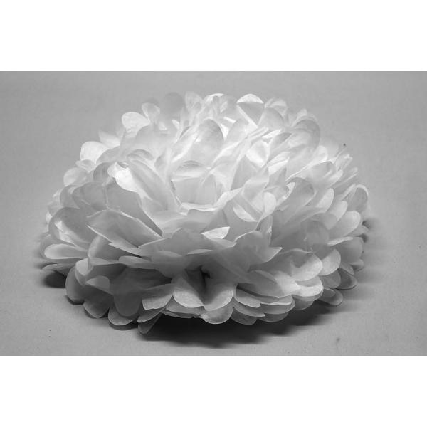 1 fleur décoration 45 cm BLANC BLANC ET IRISE