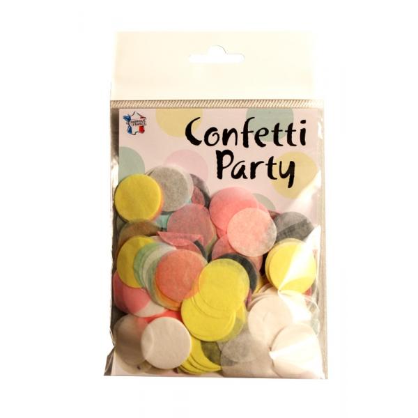 Confettis rond multi pastel15 grs 25mmØ06549 Confettis Scene Rond Et Coeurs