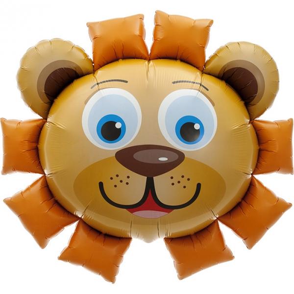 Tête de lion ballon mylar 89cm