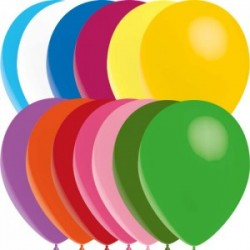 ballons standard multicouleur opaque 12.5 cm POCHE DE 100 BALLONSBWS multi 12 p100 BWS 12.5 cm opaque (décoration air)