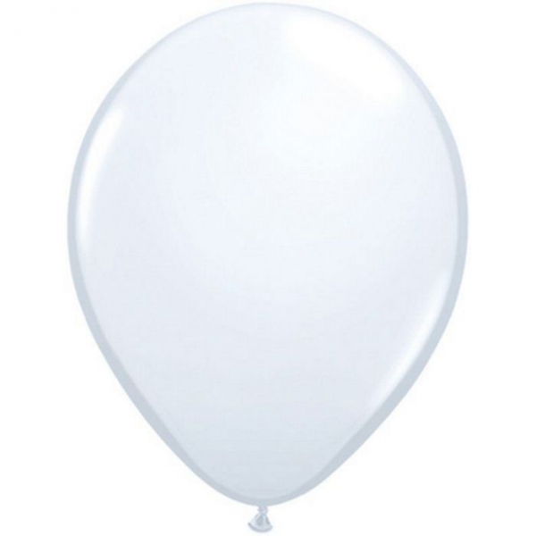 50 ballons 40 cm blanc QUALATEX 40 Cm Opaque Standard 40 Cm Ø Qualatex