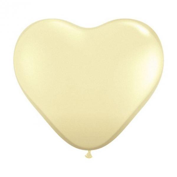 100 Coeur qualatex 28 cm ivoire