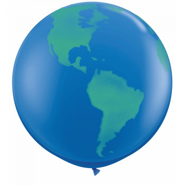 mappemonde sens hélium 90 cm spray28160 globe90 Divers Themes Ballons Decoration Imprimes