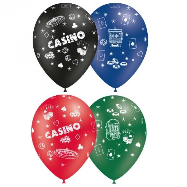 assortiment de 25 ballons sur le thème casino BALOONIA Casino