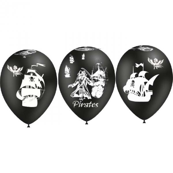 25 ballons pirate ballons 28 cm de diamètre