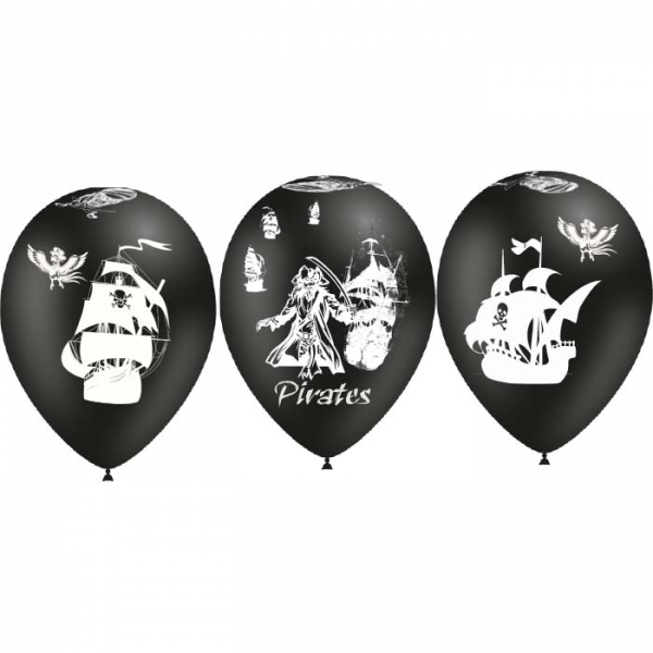 25 ballons pirate ballons 28 cm de diamètre BALOONIA Pirates