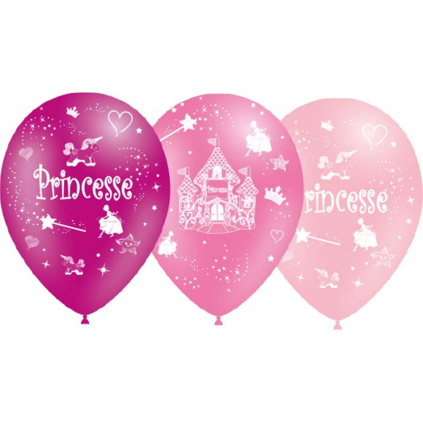 25 ballons Princesse 28 cm de diamètre BALOONIA Enfants Ballons Imprimes