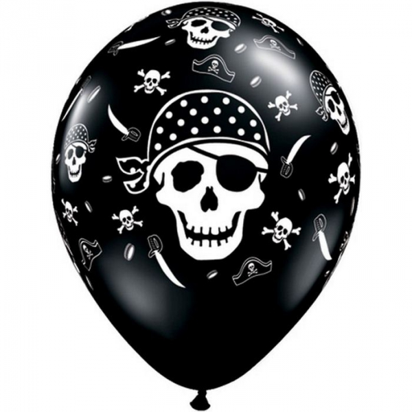 25 pirate ballons 28 cm de diamètre