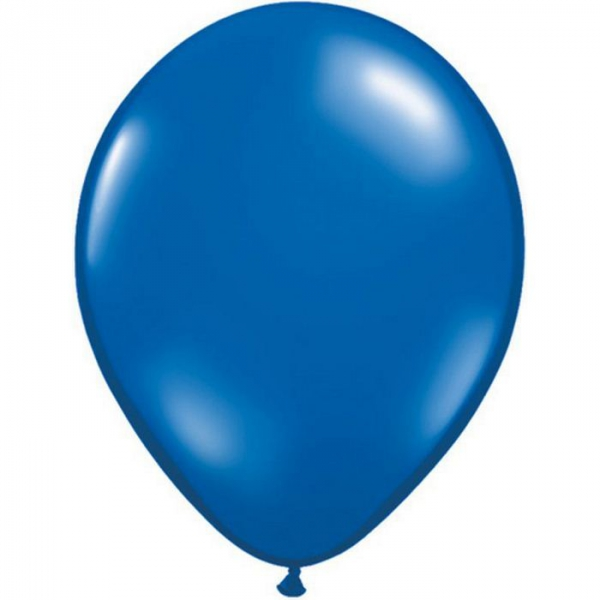 saphire bleu transparent 28 cm par 10043793 q28 p25 QUALATEX 28 Cm Transparent Qualatex 28 Cm Ø Ballons