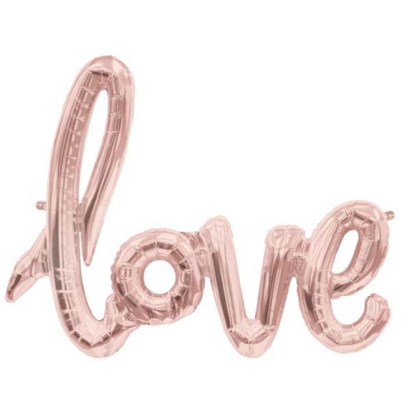 Love script rose or 76*56 cm (gonflage air)6590 NORTHSTAR Amour Et Saint Valentin
