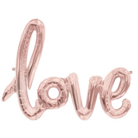 Love script rose or 76*56 cm (gonflage air)