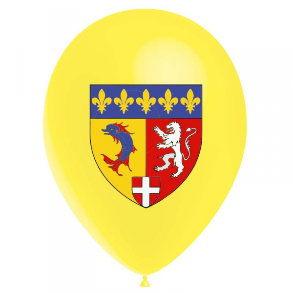 25 ballons BLASON RHONE-ALPES latex 28 cm