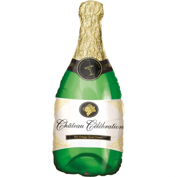 Bouteille de champagne ballon mylar