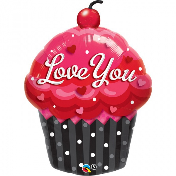 Cup cake Love You16352 Fetes Ballons Metal Mylar