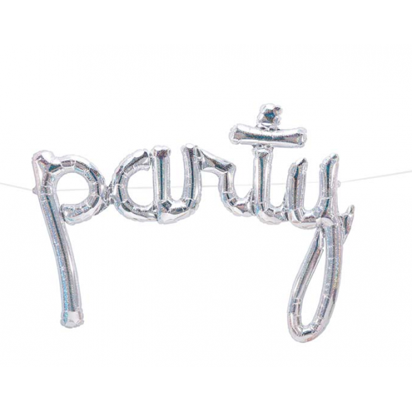Party script holographique 86 cm (gonflage air)