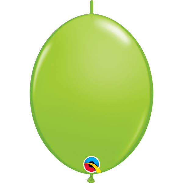50 Ballons qualatex quick link 30 cm lime green