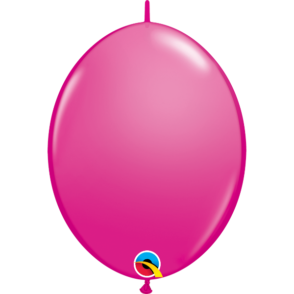 50 Ballons qualatex quick link 30 cm wild berry framboise