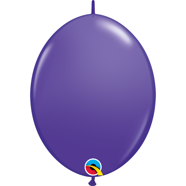 50 Ballons qualatex quick link 30 cm purple violet QUALATEX Double Attaches Qualatex