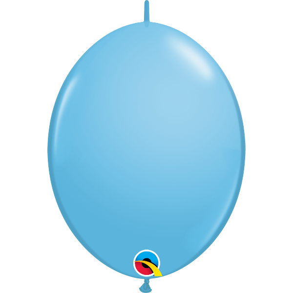 50 Ballons qualatex quick link 30 cm bleu ciel