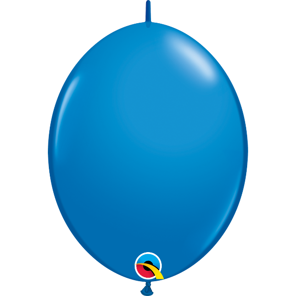 50 Ballons qualatex quick link 30 cm bleu foncé dark blue