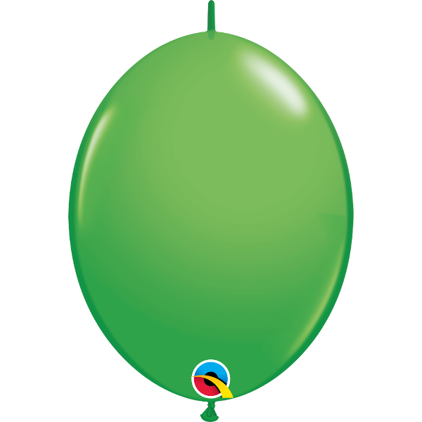 50 Ballons qualatex quick link 30 cm vert printemps