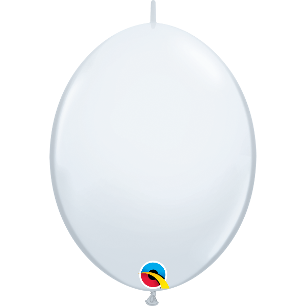 50 Ballons qualatex quick link 30 cm blanc