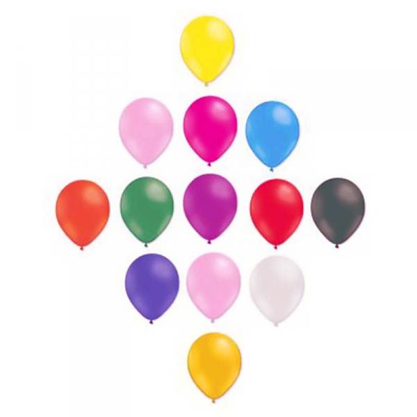 ballons multicouleur opaque 25 cm poche de 50GBP25MULTIP50 BWS 25 CM Ø STANDARD OPAQUE(pour décoration air ou hélium )