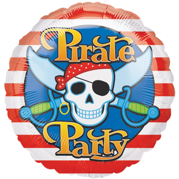 pirate party ballon mylar 45 cm non gonflé EXPEDITION GONFLEE C'EST GONFLE
