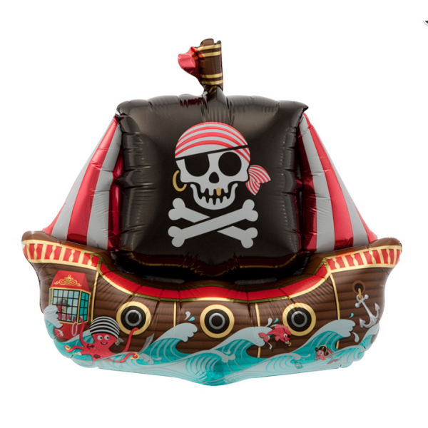 Bateau de pirate BALLON MYLAR 70 cm NORTHSTAR Les Pirates