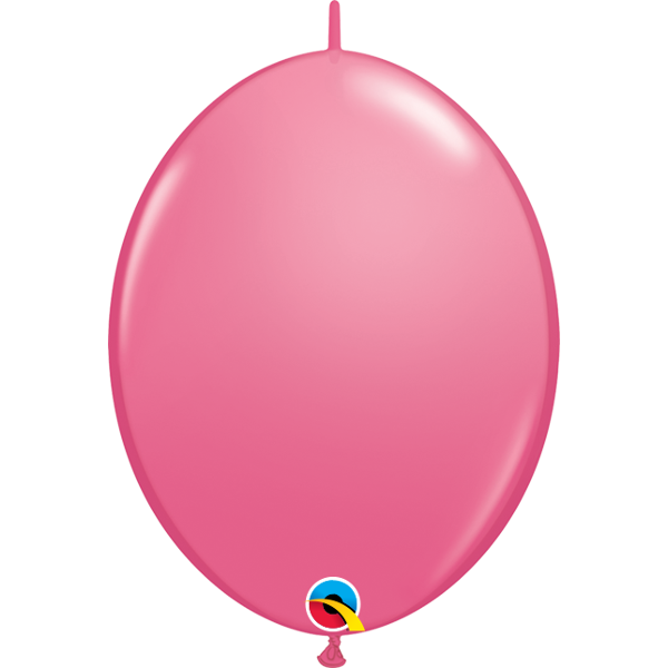 50 BALLONS 15 CM DOUBLE ATTACHE QUALATEX rose foncé