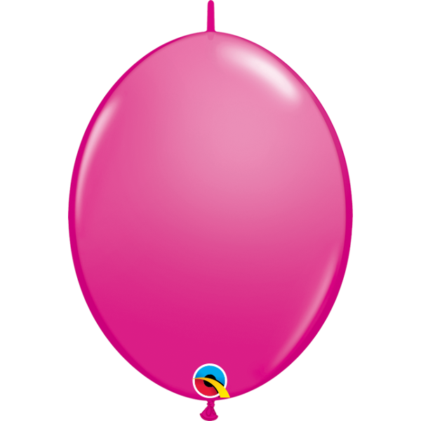 50 BALLONS 15 CM DOUBLE ATTACHE QUALATEX framboise wild berry