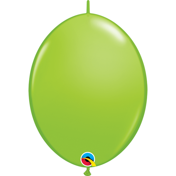 50 BALLONS 15 CM DOUBLE ATTACHE QUALATEX lime green