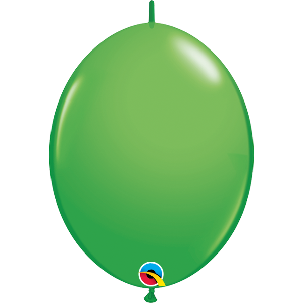 50 BALLONS 15 CM DOUBLE ATTACHE QUALATEX vert printemps