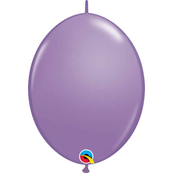 50 BALLONS 15 CM DOUBLE ATTACHE QUALATEX lilas