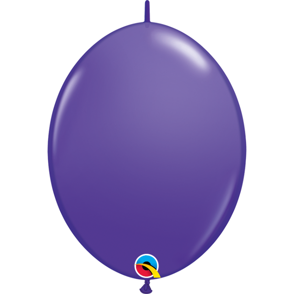 50 BALLONS 15 CM DOUBLE ATTACHE QUALATEX violet