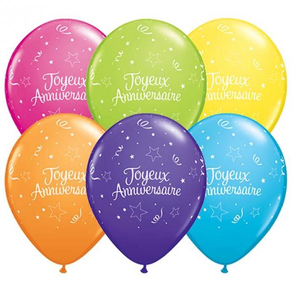 50 ballons imprimé Joyeux anniversaire