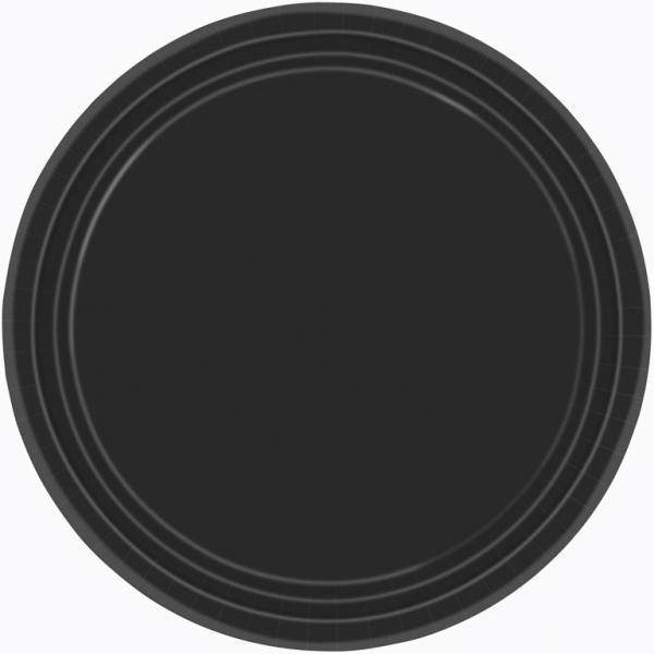 8 Assiettes carton 22,8 cm noir54015-10 AMSCAN NOIR