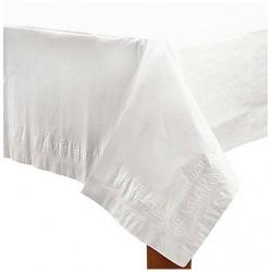 Nappe plastique 137*274 blanc AMSCAN BLANC