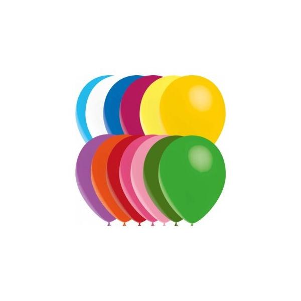 100 ballons assortis opaque 14 cm