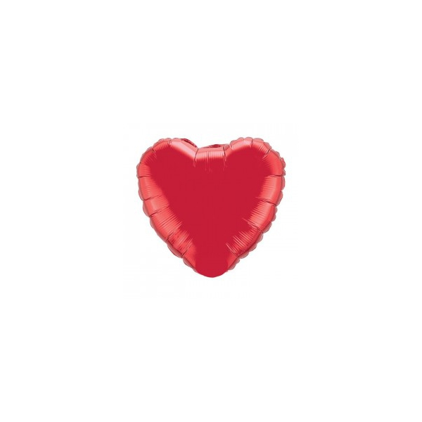 85 mylar métal coeur rouge